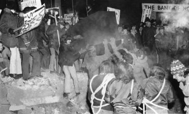 Archive de l'Évangéline. Marche au centre-ville de Moncton en 1972