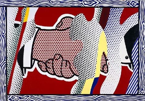 Poignée de main Réflexions (1988) de Roy Lichtenstein.