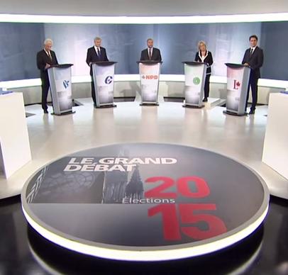 Extrait du débat des chefs fédéraux 2015.