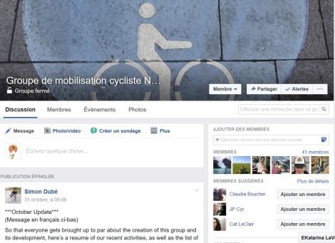 Légende : Inspiré à brasser la cage? Rejoignez le Groupe de mobilisation cycliste du NB / NB Biking Advocacy Group.