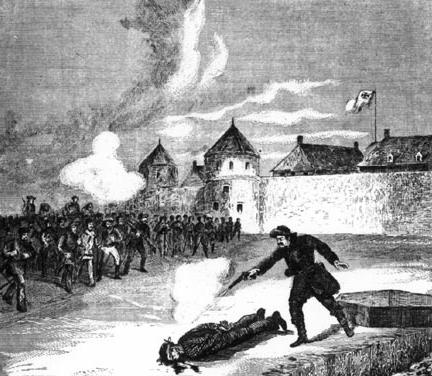 Crédit photo : «L'exécution de Scott», Canadiana Mil. - Guest III p. 429.